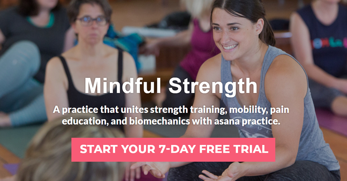 Mindful Strength Advertisement for Strength Training to Complement Yoga